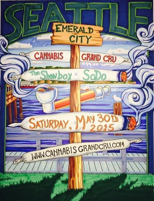 Image of Cannabis Grand Cru Seattle Poster