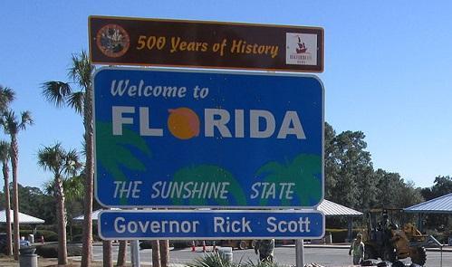 FloridaWelcomeSignImageInfrogmationViaWikimediaCommons