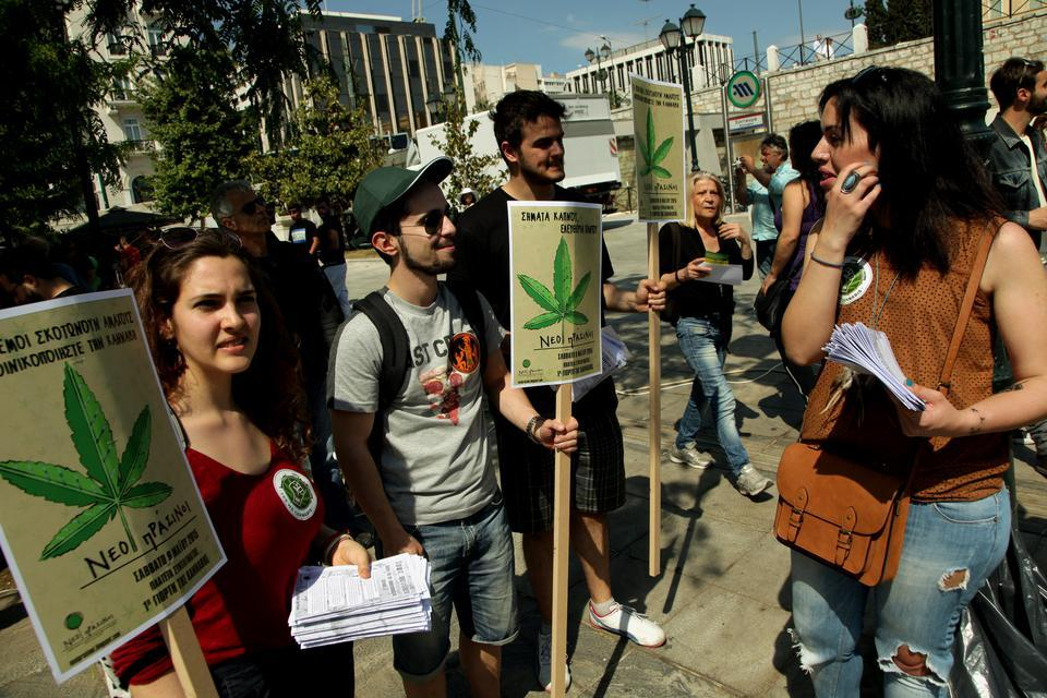 Greek cannabis activists protest for legalization