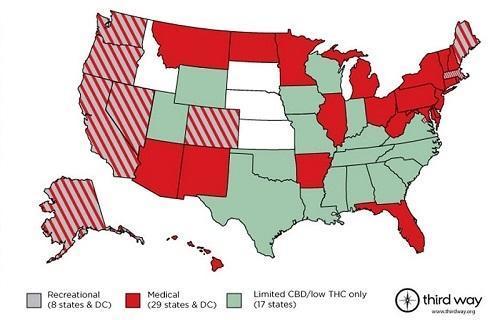 Map.State Marijuana Legalization LawsImageThirdWayDotOrgViaTheFreshToastDotCom