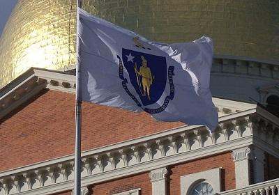Massachusetts state flag. Image: Alexius Horatius via Wikimedia Commons