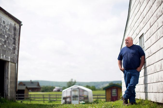 Image of  Don Crawford on his family's farm in Wallkill, N.Y.