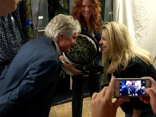 Image of Nevada politicians visiting Colorado marijuana businesses