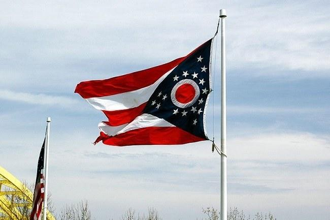 Ohio state flag. Image: Jeff Kubina via Wikimedia Commons