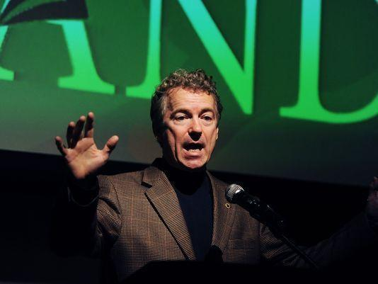 Image of Rand Paul talking about hemp legalization