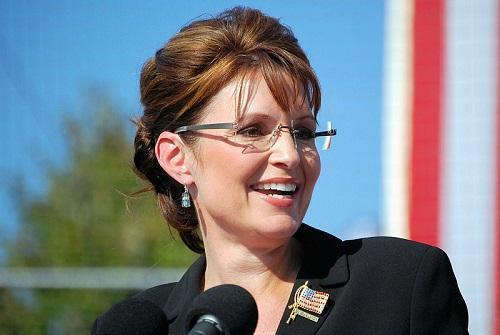Sarah Palin speaking in Elon, NC during the 2008 Presidential Campaign. Image: Therealbs2002 via Wikimedia Commons