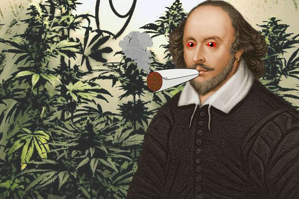 Did William Shakespeare smoke CANNABIS? Scientist claims the Bard blazed marijuana using a 'bong'