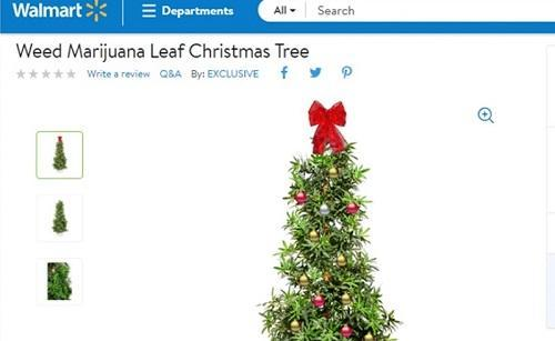 Mainstream alert: You can buy a weed-leaf Christmas tree from Walmart - Cannabis News