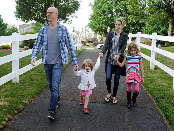 image of Erika and Michael Zorn with daughters Lily, 2, and Emma, 6. The couple faces charges for possessing and manufacturing marijuana that the young wife used to relieve debilitating symptoms. (TOM GRALISH/STAFF PHOTOGRAPHER)