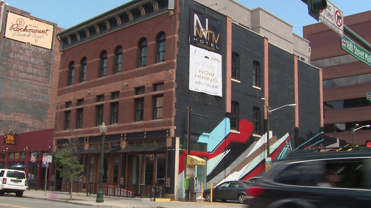 Image of the Nativ Hotel, Denver's first marijuana friendly hotel.