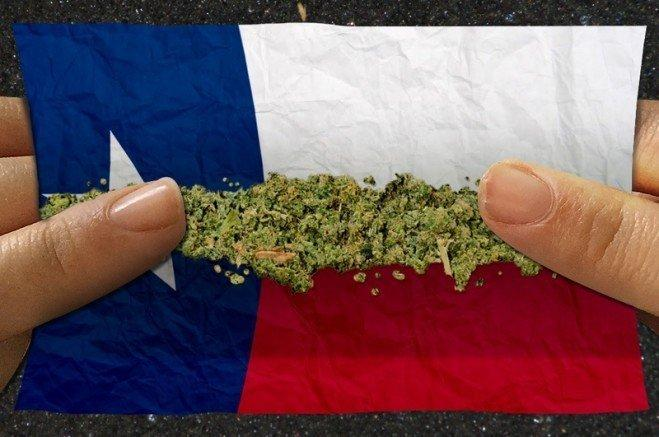 image of Texas state flag and cannabis/Graphic by Todd Wiseman