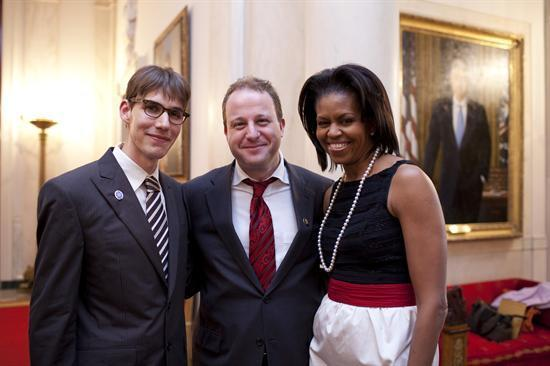 Image of Colorado Rep Mr. Cannabis Jared Polis with Michelle Obama
